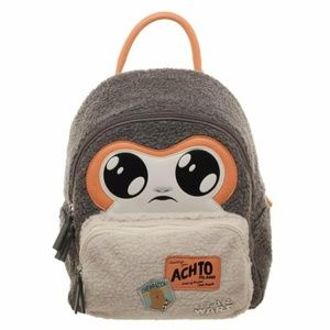 Star Wars Porg Sherpa Mini Backpack NWT